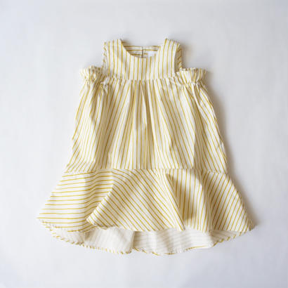 Tail wind dress (yellow) / folkmade
