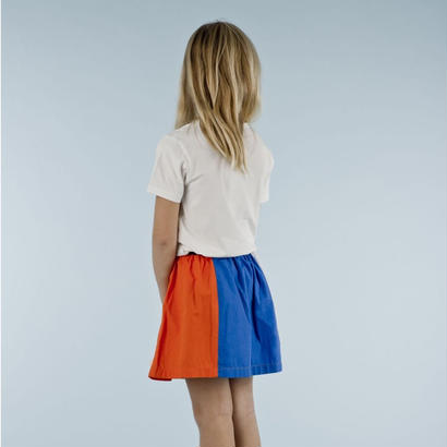 color block SL wv skirt  // tinycottons