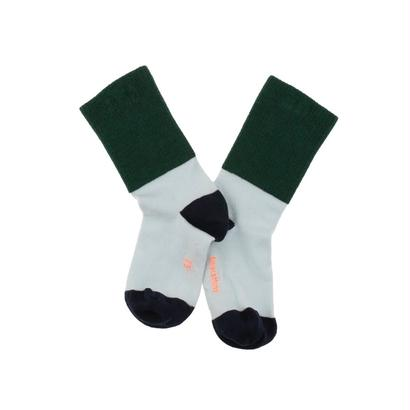 rib medium socks ( dark green x light blue ) / tinycottons
