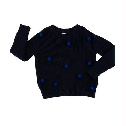 pom poms sweater oversized (blue) / tinycottons