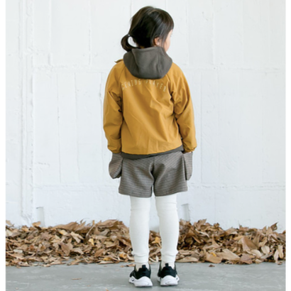 check warm shorts (brown/95.110) / MOUN TEN.