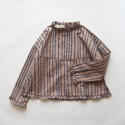 The Devotion Top (Brown+Blue Stripes) / CITY GOATS