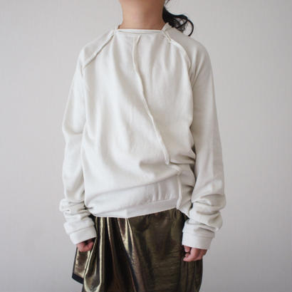 LONIN pullover + hem detail (cloud white) / treehouse