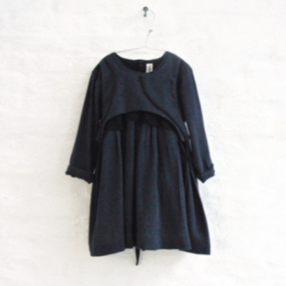 AVA dress + lace (navy marl) / treehouse