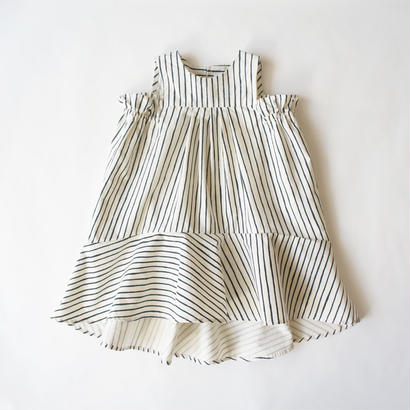 Tail wind dress (navy) / folkmade