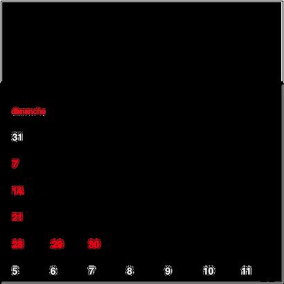 カレンダー 2019年 4月