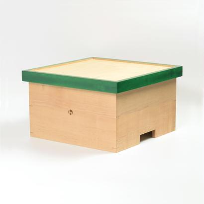 箱膳 メイプル  色漆 緑