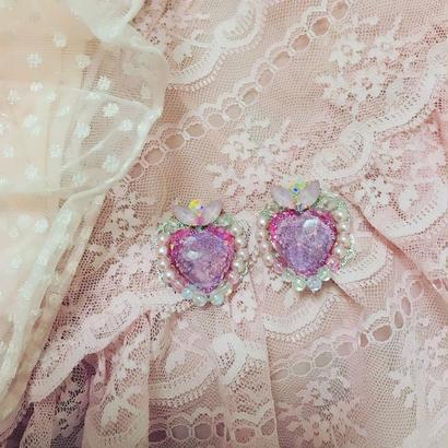 紫のチャクラの魔法のコンパクトイヤリング