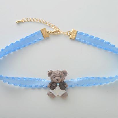 テディベアチョーカー/Light Blue
