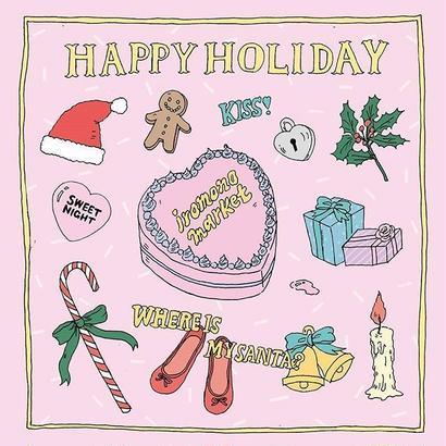 クリスマス柄ハンドタオル/Pink