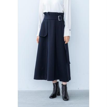 【2018A/W】オーバーラップスカート/ネイビー