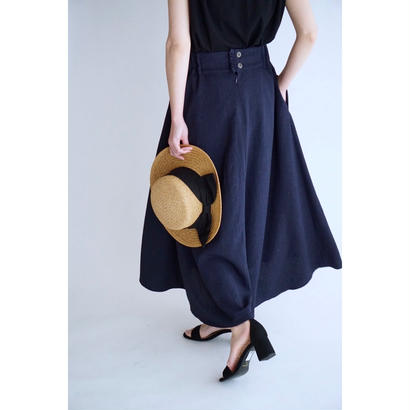 it / 【7月上旬配送開始】MINI FRILL FREAR SKIRT (NAVY)