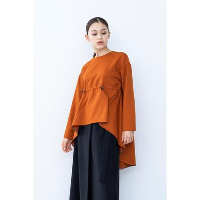 【2018A/W】ドローコードロングテールブラウス/オレンジ