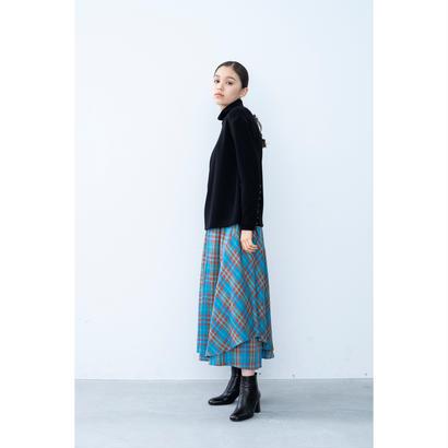 【2018A/W】アシンメトリーチェックスカート/ブルー