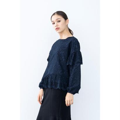 【2018A/W】イザベルレースブラウス/ネイビー