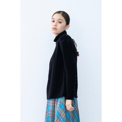 【2018A/W】カフスボタンニットトップス/ブラック