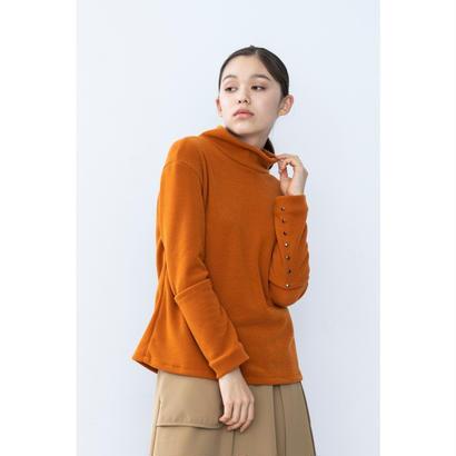 【2018A/W】カフスボタンニットトップス/オレンジ