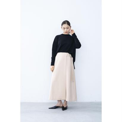 【2018A/W】ダブルクロスラップスカート/ベージュ