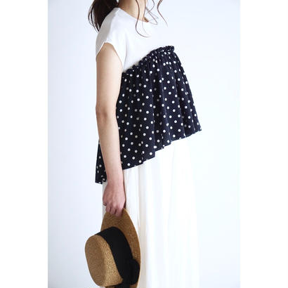 it / 【6月中旬配送開始】DOT LAYERED TOPS (WHITE)