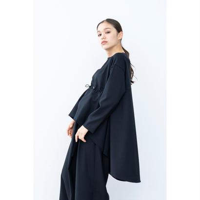 【2018A/W】ドローコードロングテールブラウス/ブラック