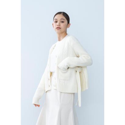 【2018A/W】サイドバックルフレアカーディガン/アイボリー
