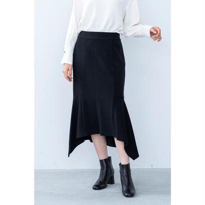 【2018A/W】サイドアシンメトリースカート/ブラック