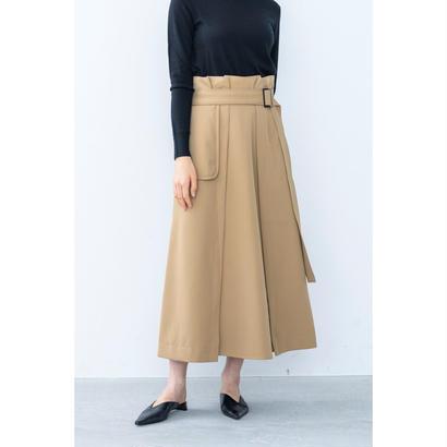 【2018A/W】オーバーラップスカート/ベージュ