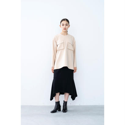 【2018A/W】ダブルクロスポケットブラウス/ベージュ