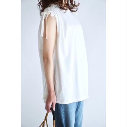 it / DRAWSTRING RIBBON TOPS (WHITE)