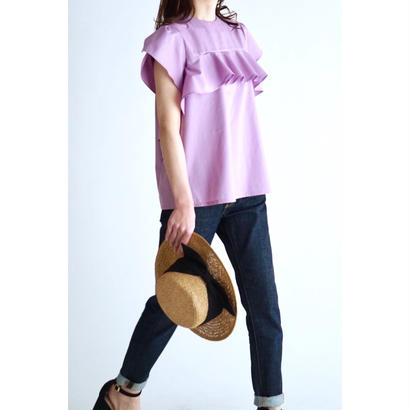 it / 【6月下旬配送開始】RUFFLE BLOUSE (PURPLE)