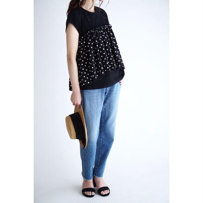 it / 【6月中旬配送開始】DOT LAYERED TOPS (BLACK)
