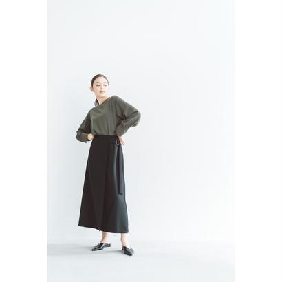 【2018A/W】ダブルクロスラップスカート/ブラック
