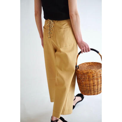 it / LACE UP CHINO WIDE PANTS
