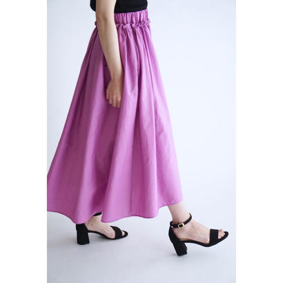 it / 【7月中旬配送開始】COTTON GATHER SKIRT (PURPLE)