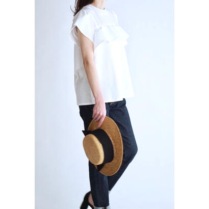 it / 【6月下旬配送開始】RUFFLE BLOUSE (WHITE)