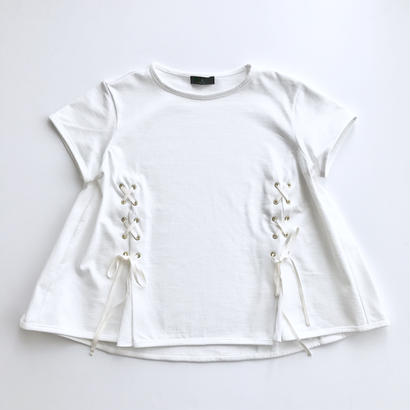 it / A LINE LACE UP TOPS (WHITE)