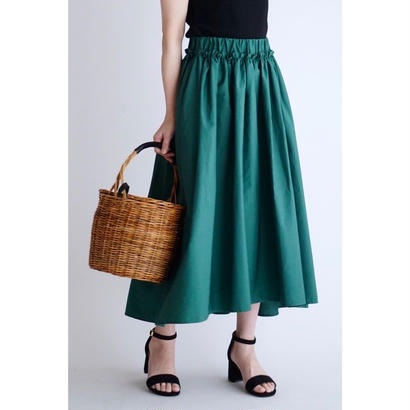it / 【7月中旬配送開始】COTTON GATHER SKIRT (GREEN)
