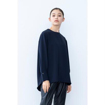 【2018A/W】ショルダーZIPブラウス/ネイビー