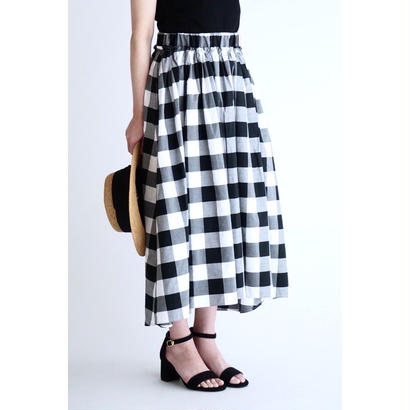 it / 【7月中旬配送開始】COTTON GATHER SKIRT (CHECK)