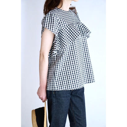 it / 【6月下旬配送開始】RUFFLE BLOUSE (CHECK)
