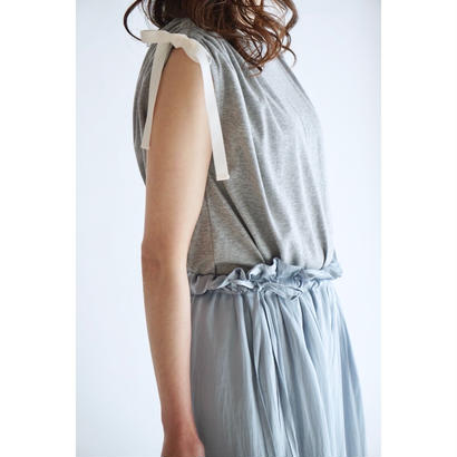 it / DRAWSTRING RIBBON TOPS (GREY)
