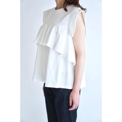 it/FRONT RUFFLE TOPS (WHITE)