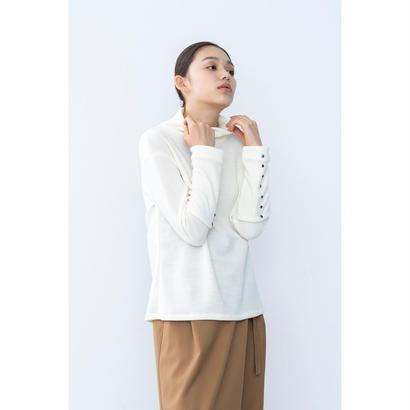 【2018A/W】カフスボタンニットトップス/アイボリー