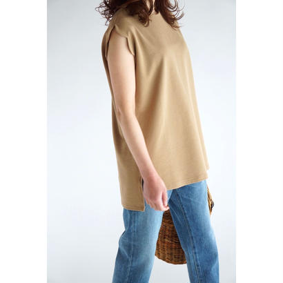 it /  SCALLOP SLEEVE TOPS  (MOCHA)