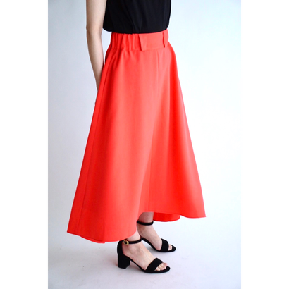it / 【7月上旬配送開始】MINI FRILL FREAR SKIRT (ORANGE)