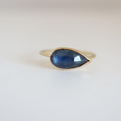 K18  TANZANITE  TEARDROP  RING