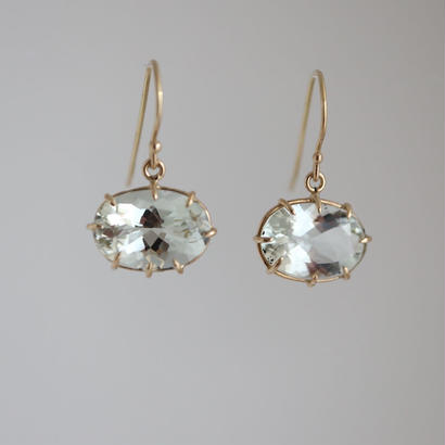 K18 & GREEN AMETHYST EARRINGS
