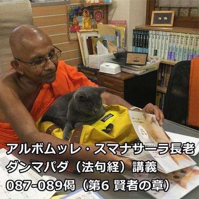 スマナサーラ長老のダンマパダ講義087-089(MP3音声)