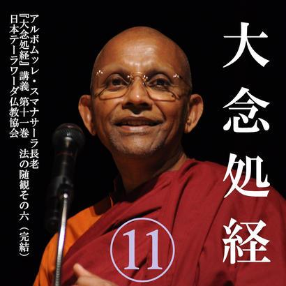 スマナサーラ長老の「大念処経」講義 11 法の随観6(MP3音声)※完結