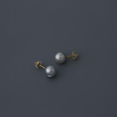 【earrings】18K akoya light gray baroque pearl